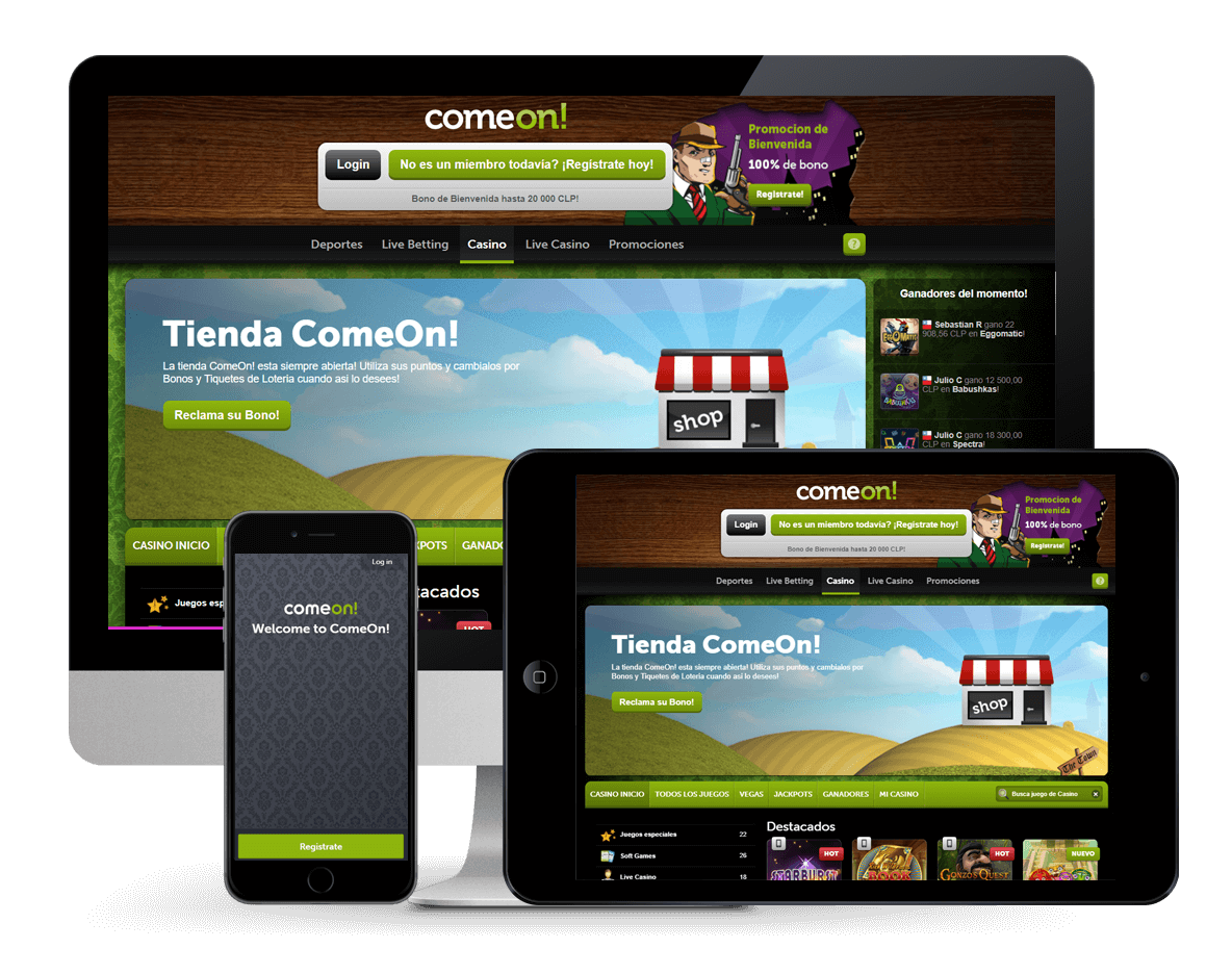 An image of ComeOn Casino on Multiple Platforms