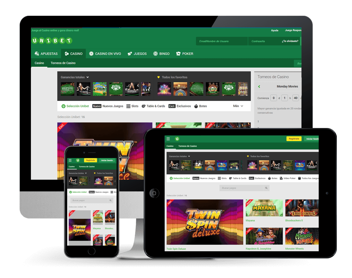 An image of Unibet Casino on Multiple Platforms