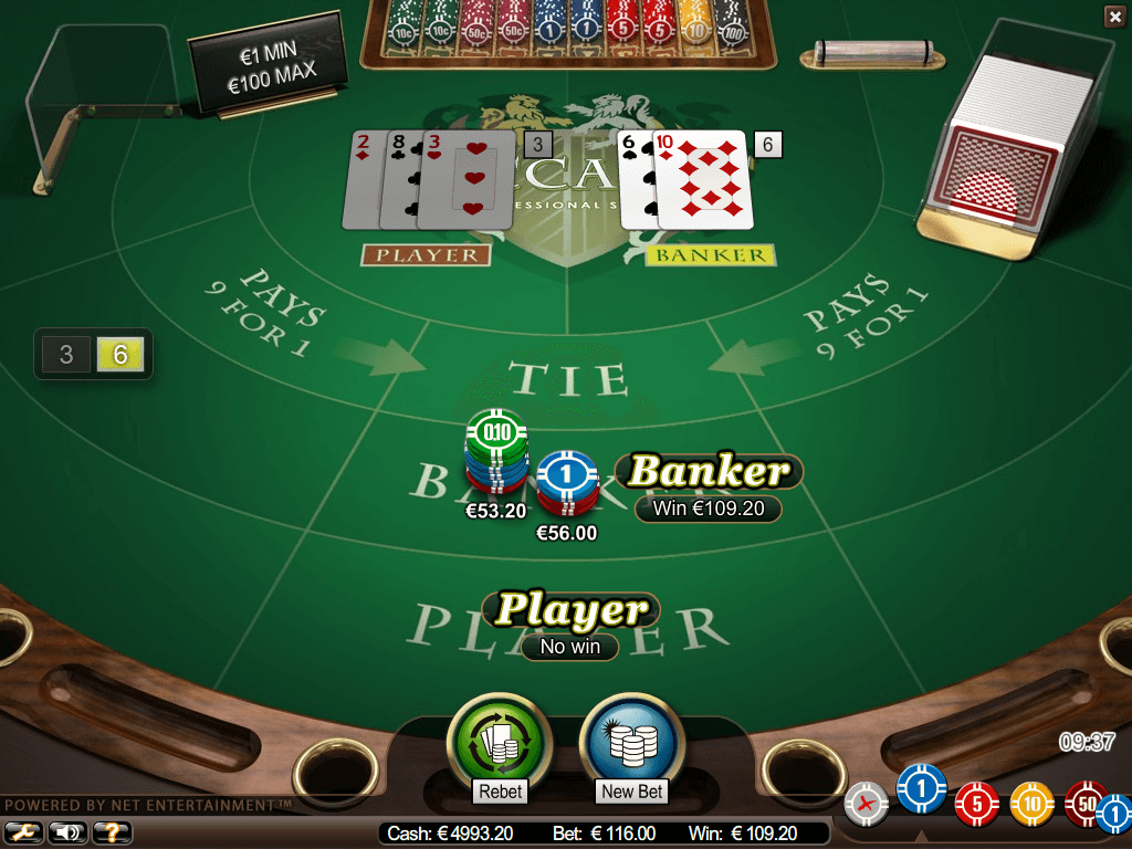 A screenshot of Baccarat