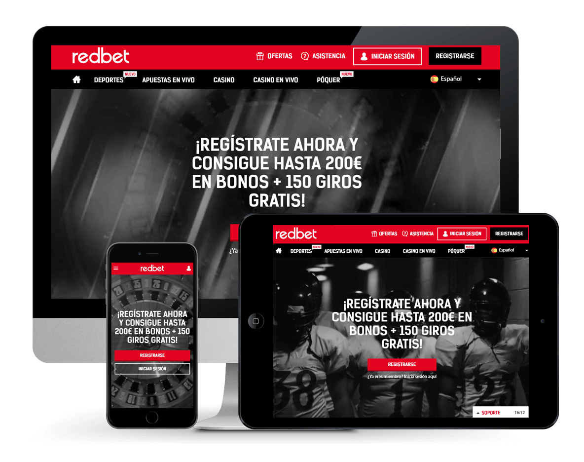 An image of Redbet Casino on Multiple Platforms