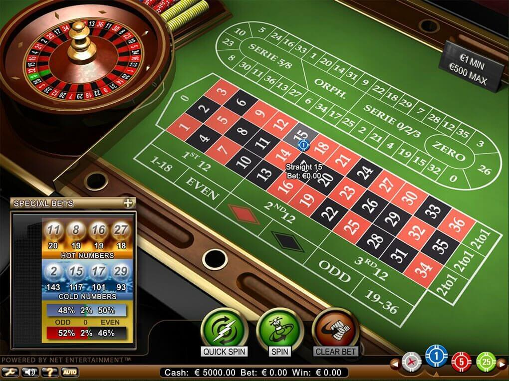 A screenshot of Roulette