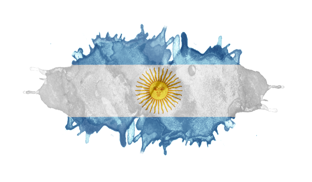 An image of the Argentinian flag